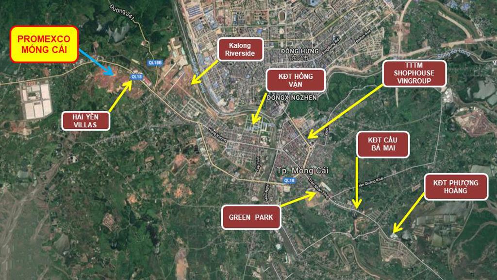 So sánh các Dự án Đất nền tại thành phố Móng Cái, tỉnh Quảng Ninh